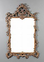A pair of Italian carved wood rectangular wall mirrors of