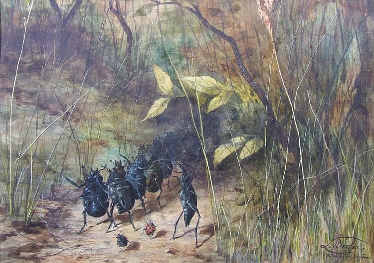 Leon Becker (1826-1909) - Watercolour -