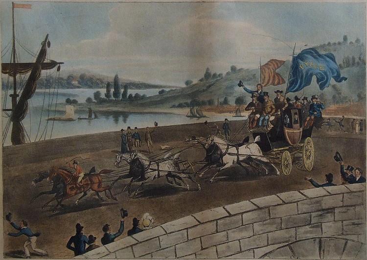 After Robert Pollard (1755-1838) - Coloured print