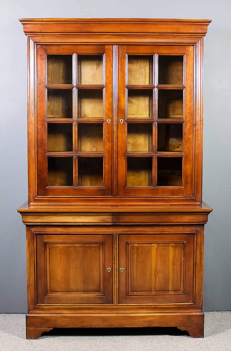 Cherry Wood Bookcases ~ A modern french panelled cherry wood chiffonier bookcase th