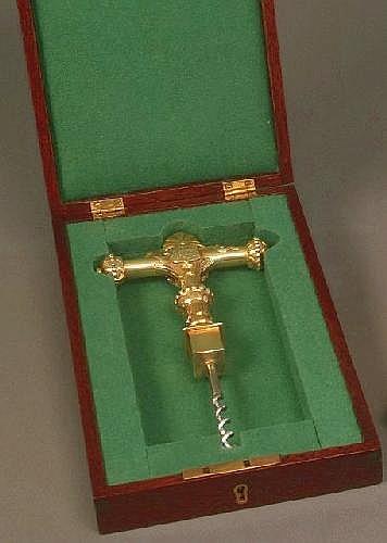 A late Victorian silver gilt presentation stop