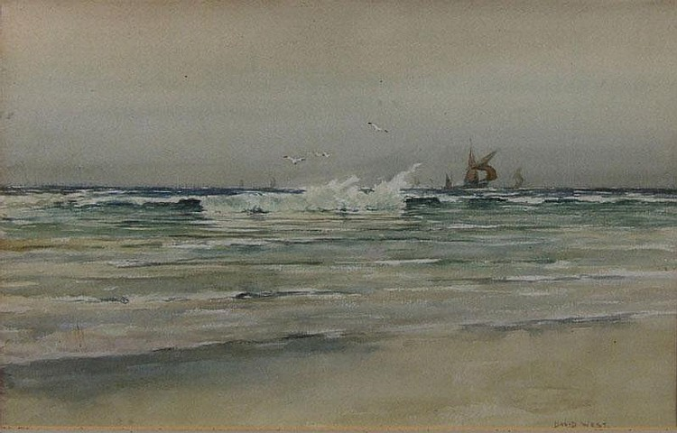 David West (1868-1936) - Watercolour -