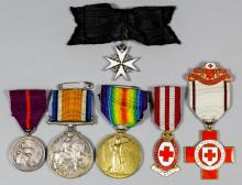 A group of George V First World War Medals to
