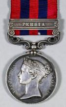 A Victoria India General Service Medal, with one bar