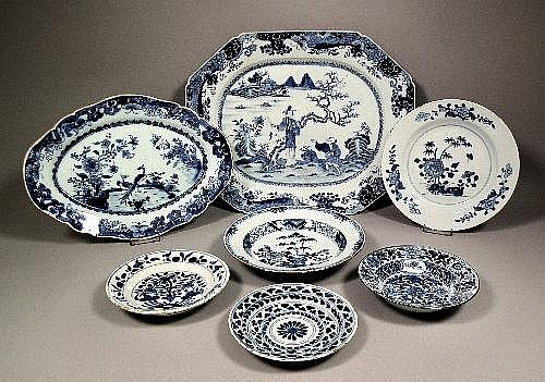 An 18th Century Chinese blue painted porcelain
