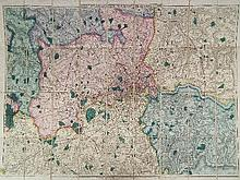 Davie's Map of The Environs, London on 36 sheets