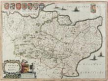 Joan Blaeu (1598-1673) - Coloured engraving -