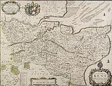 John Ogilby (1600-1675) - Coloured engraving -