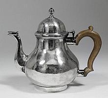 A George V Britannia standard silver teapot of