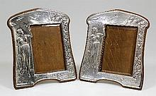 A pair of Edward VII silver photographs frames of