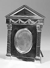 An Edward VII cast solid silver photograph frame