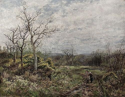 James T. Callowhill (1838-1917) - Oil painting -