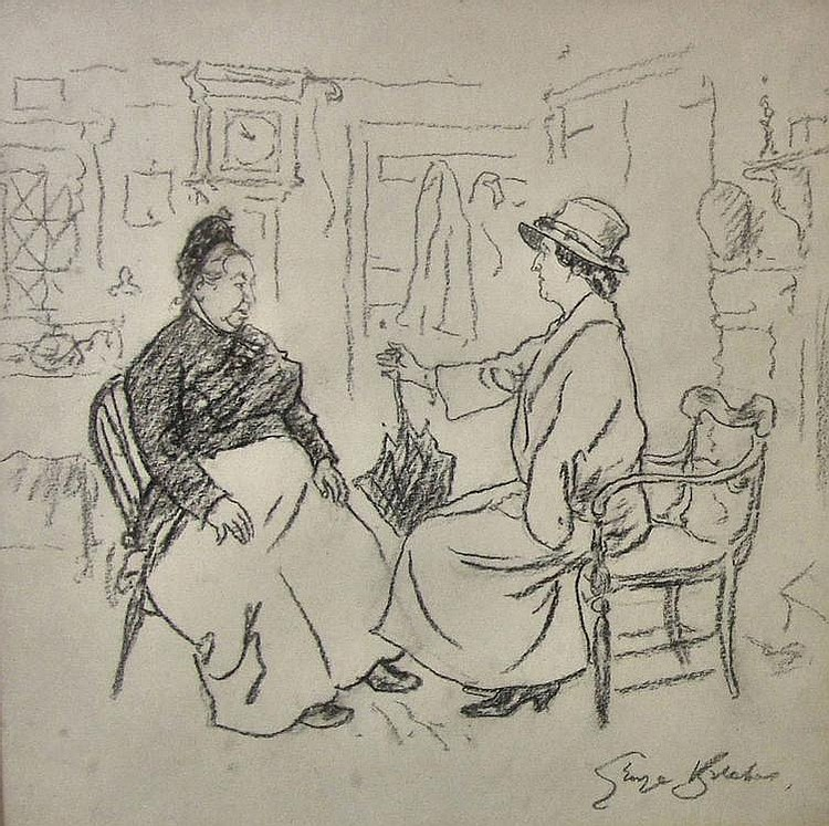 George Belcher (1875-1947) - Three charcoal