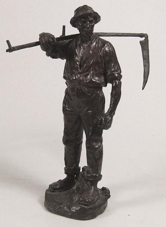 Heinz Muller (1872-1937) - Brown patinated bronze
