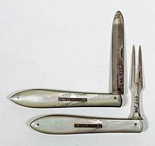 A late Victorian silver bladed and mother of pearl