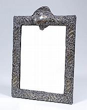 A late Victorian silver framed rectangular