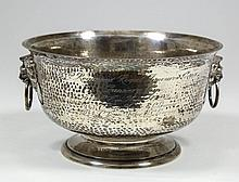 A George VI silver circular two-handled bowl of