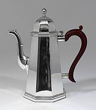 An Elizabeth II silver octagonal coffee pot of