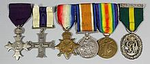 A group of six George V First World War medals to