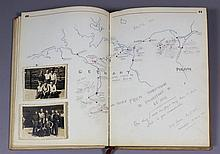 A Second World War Prisoner of War's handwritten