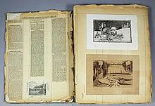 Two early 20th Century scrap books containing