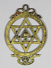 An early 19th Century Masonic gilt metal Chapter