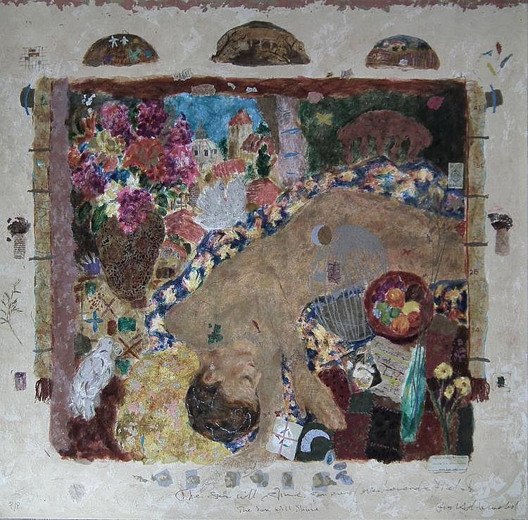 Roy Fairchild-Woodard - Silk screen coloured print