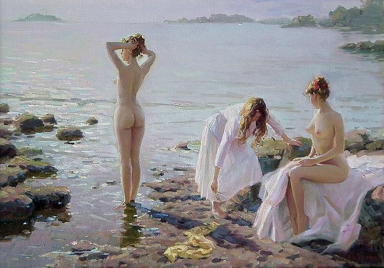 Vladimir Belsky (born 1949) - Oil painting -