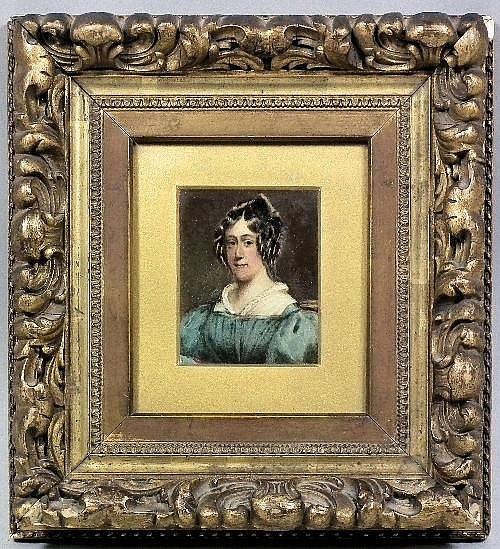 19th Century School - Overpainted miniature