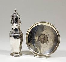 A George V silver octagonal sugar castor of