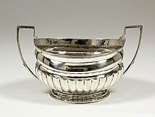 A George III silver two-handled sugar basin with