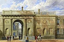 "George Pyne (1800-1884) - Watercolour - ""Gate Way,"