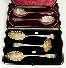 A pair of George III silver and silver gilt