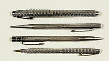 An Elizabeth II silver propelling pencil and