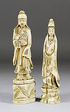 A Japanese carved ivory standing figure of a male