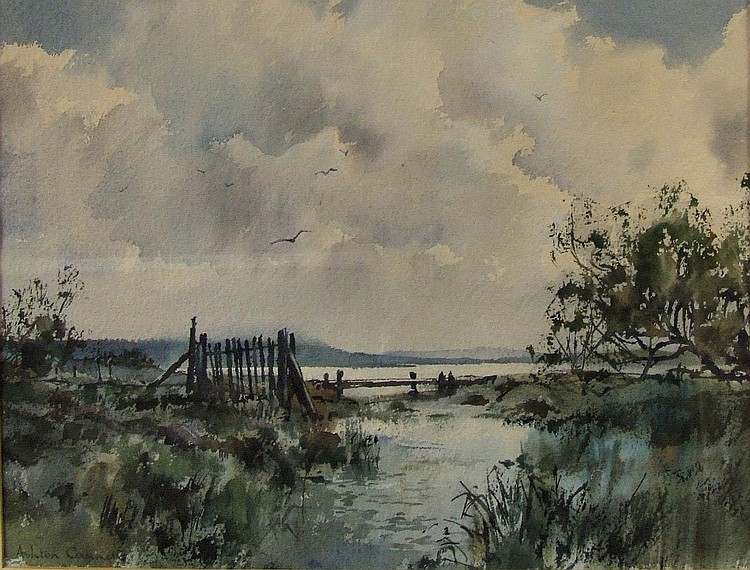 Ashton Cannell (1927-1994) - Two watercolours -