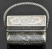 An early Victorian silver rectangular vinaigrette