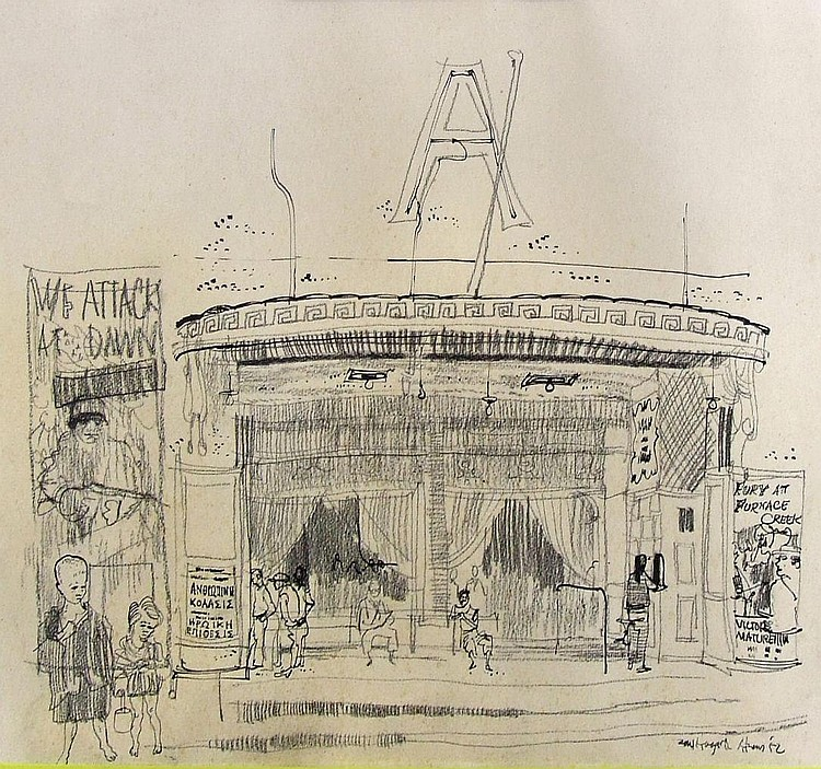 Paul Hogarth (1917-2001) - Pen and ink drawing -