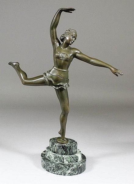 After S. Melani (1902-1934) - Bronze figure of a