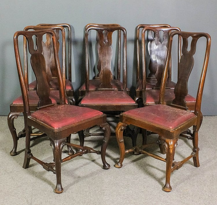 A set of eight early 20th century walnut dining ch for Asian furniture tottenham court road