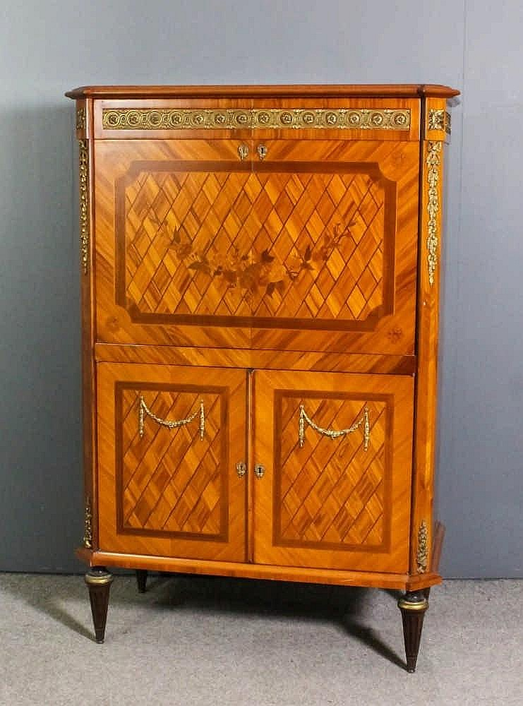 A 20th century french kingwood and ormolu mounted television for French furniture designers 20th century