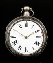 A Victorian silver pair cased verge pocket watch by William Hardeman of Bridge, No. 55643, the white enamel dial with Roman numerals, (with chip between 2 and 3), the verge movement with engraved watch cock, contained in plain silver pair case, 54mm diameter, hallmarked London, 1871, and six other pocket watches in rolled gold and silver cases, various