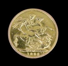 A Victoria 1895 Old head sovereign (Fair/Fine)