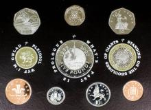 An extensive collection of modern Royal Mint proof year coin sets, (in perspex casings and fitted boxes), and a selection of other United Kingdom commemorative coins, various, (one box)