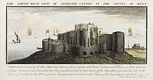Samuel and Nathaniel Buck (1696-1779 and 1695-1775) - A collection of five engravings - Four coloured views of local castles, comprising