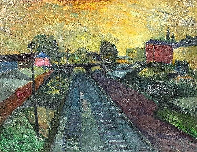 Violet Fuller (20th Century) - Oil painting -