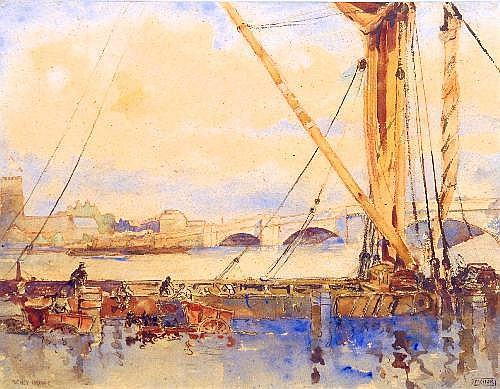 Watercolour: William Monk (1863-1937) -