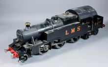 A scratch built 3.5ins gauge live steam engine, painted in green