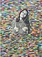 Ian Dury (1942-2000) - Pencil and wash image laid, Ian Dury, Click for value