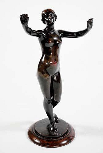 CAST FROM A MODEL BY EUGEN SCHLIPF (b.1869) COPPER
